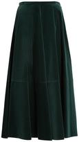 Maison Margiela High-waisted cotton-velvet full skirt