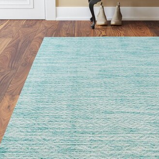 Brodie Langley StreetTM Power Loom Aqua Area Rug Langley Street Rug Size: Rectangle 2' x 3'7""