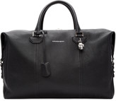 Alexander McQueen Black Striped Strap Duffle Bag
