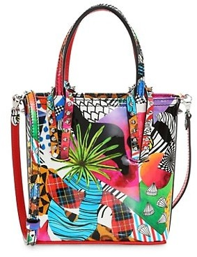 Christian Louboutin Mini Cabata Print Leather Tote