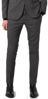 Topman Men's Ultra Skinny Fit Jersey Suit Trousers