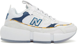 New Balance White and Navy Jaden Smith Edition Vision Racer Sneakers