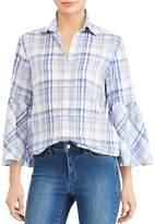 Lauren Ralph Lauren Bell Sleeve Plaid Shirt