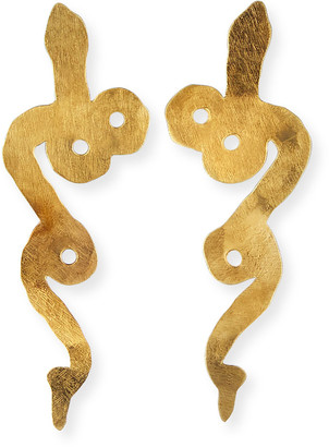 We Dream In Colour Wee Serpentine Earrings, Gold