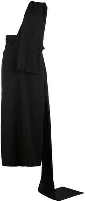 Yohji Yamamoto Tied Asymmetric Dress