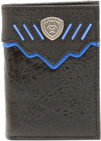 Ariat Black & Turquoise Shield Leather Wallet