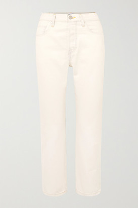 Levi's Made & Crafted 501 Crop Mid-rise Straight-leg Jeans - White