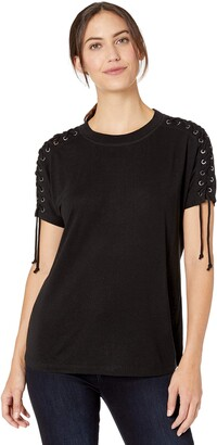 Nic+Zoe Women's Laced UP TOP