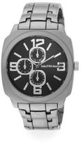 Saks Fifth Avenue Gunmetal-Tone Chronograph Watch