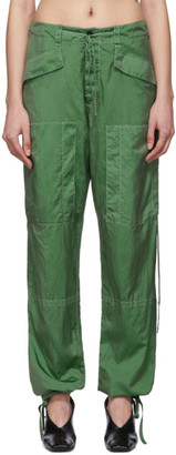 Jil Sander Green Packaway Trousers