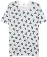 Kenzo White Triangle-print Cotton T-shirt
