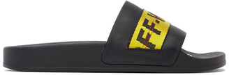 Off-White Black Industrial Slides