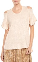 Halston Cold-Shoulder Tee