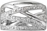 Sterling Silver 1/4-ct. T.W. Diamond Crisscross Ring