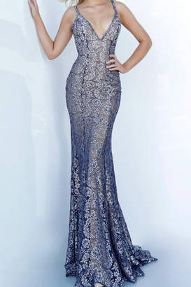 Jovani Lace Beaded Gown