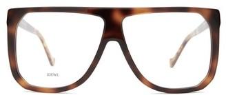 Loewe Oversized Square-frame Acetate Glasses - Tortoiseshell