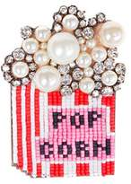 Shourouk Women's Round Multicolour Crystals And Pearls Emojibling Pop Corn Brooch
