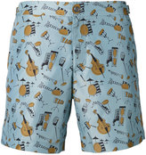 Dolce & Gabbana jazz club print swim shorts - men - Polyester - III