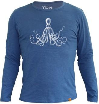 Tonn Long Sleeve Octopus Tee In Dark Blue