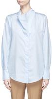 Stella McCartney 'Damiane' asymmetric cowl neck poplin shirt