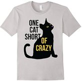One cat short of CRAZY shirt funny cat lover t-shirt