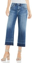 Vince Camuto Undone Cropped Wide-Leg Jeans in True Blue