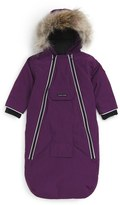 Canada Goose 'Bunny' Hooded Bunting with Genuine Coyote Fur Trim (Baby Girls)