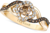 LeVian Le Vian Chocolatier® Diamond Twist Shank Ring (5/8 ct. t.w.) in 14k Gold
