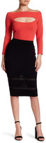 Yoana Baraschi Mirage Knitted Pencil Skirt