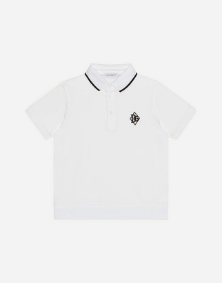 Dolce & Gabbana Pique Polo Shirt With Logo Patch