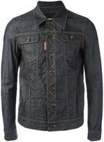 DSQUARED2 creased denim jacket - men - Cotton - 48