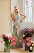 Thumbnail for your product : Little Mistress Bridesmaid Kellie Waterlily Lace Insert Pleated Maxi Dress