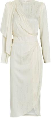 Ronny Kobo Jade Moire Satin Dress
