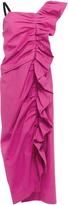 Isa Arfen One-Shouldered Ruched Dress