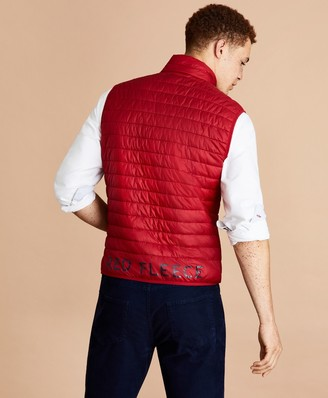 Brooks Brothers Water-Resistant Red Fleece Puffer Vest