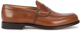 Church's Dawley brown leather penny loafers