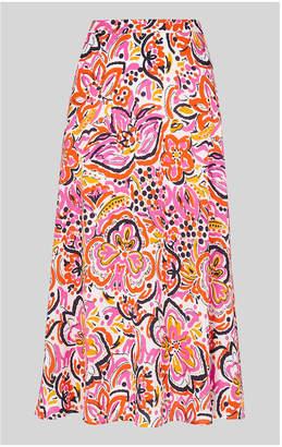 Whistles Art Floral Print Skirt
