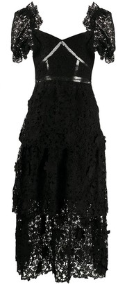 Self-Portrait Lace Cut-Out Bodice Dress