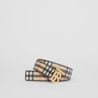 Burberry Monogram Motif Vintage Check E-canvas Belt
