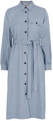 Mads Norgaard Shjakilla houndstooth-jacquard shirt dress