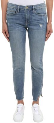 Frame Asymmetrical Hem Skinny Jeans