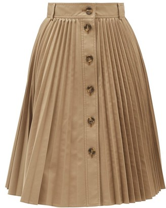RED Valentino Buttoned Pleated Skirt - Womens - Beige