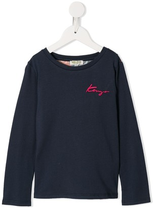 Kenzo Logo-Embroidered Floral Sweatshirt