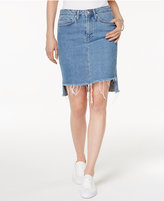 Mavi Jeans Mila Frayed High-Low Denim Skirt