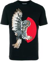 Neil Barrett mechanical owl print T-shirt - men - Cotton - XS