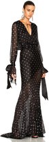 Alexandre Vauthier Embellished Plunging Gown