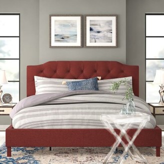 Red Barrel Studioâ® Crafa Tufted Upholstered Low Profile Platform Bed Red Barrel StudioA Size: King