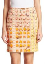 Akris Punto Beach Printed Skirt