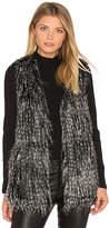 BB Dakota Jack By Agneta Faux Fur Vest in Gray