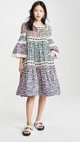 Marc Jacobs Runway Tiered Prairie Dress with Flared Sleeves
